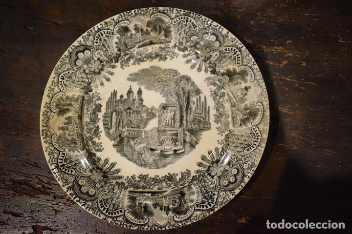 PLATO LLANO CARTUJA (Antigüedades - Porcelanas y Cerámicas - La Cartuja Pickman)