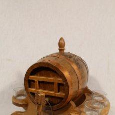 Antigüedades: BARRIL TONEL PEQUEÑO EN MADERA DE ROBLE. Lote 113449519