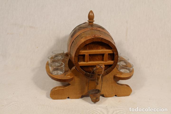 Antigüedades: barril TONEL PEQUEÑO EN MADERA DE ROBLE - Foto 2 - 113449519