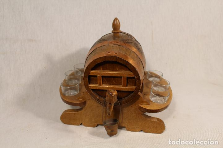 Antigüedades: barril TONEL PEQUEÑO EN MADERA DE ROBLE - Foto 3 - 113449519