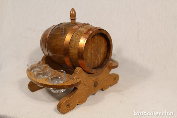 Antigüedades: barril TONEL PEQUEÑO EN MADERA DE ROBLE - Foto 4 - 113449519