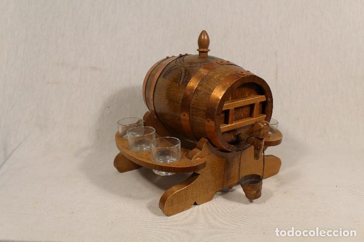 Antigüedades: barril TONEL PEQUEÑO EN MADERA DE ROBLE - Foto 6 - 113449519
