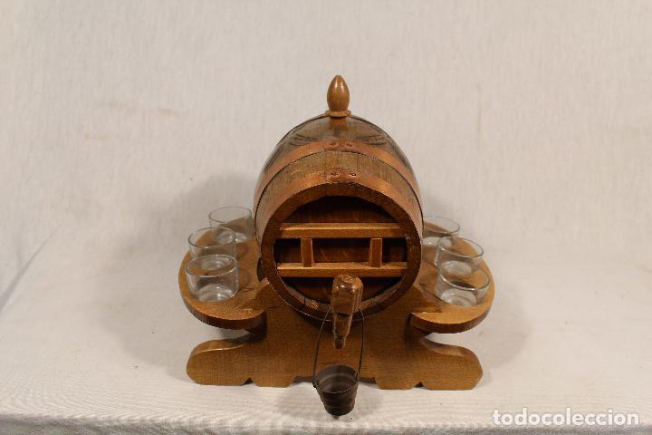 Antigüedades: barril TONEL PEQUEÑO EN MADERA DE ROBLE - Foto 7 - 113449519