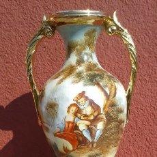Antigüedades: JARRÓN PINTADO A MANO. Lote 113452859