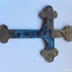 Antigüedades: CRUZ DE METAL MUY ANTIGUA, PARA CADENA.. Lote 113460803