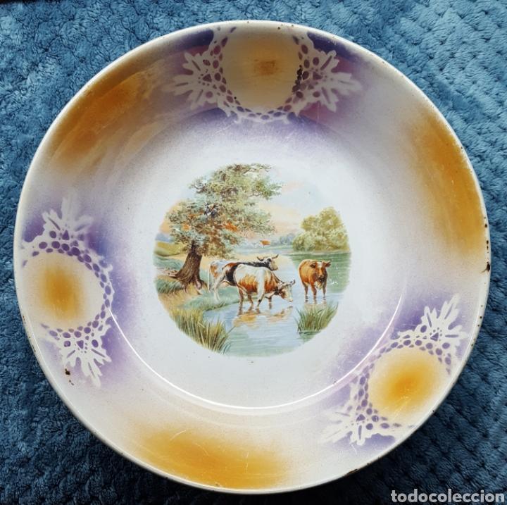 SAN CLAUDIO OVIEDO ENSALADERA S.XX AÑOS 30 (Antigüedades - Porcelanas y Cerámicas - San Claudio)
