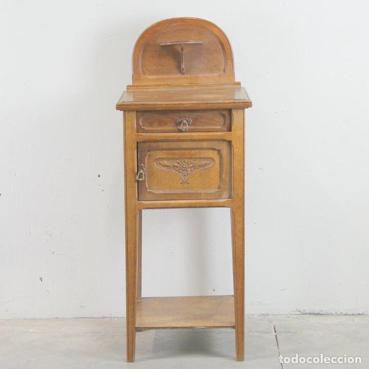MESITA DE NOCHE ART NOUVEAU (Antigüedades - Muebles Antiguos - Mesas Antiguas)