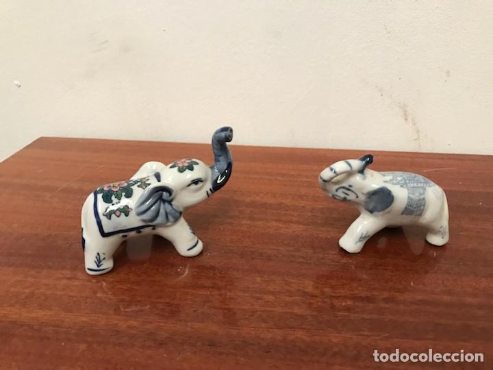 ELEFANTES DE PORCELANA (Antigüedades - Porcelanas y Cerámicas - Otras)