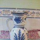 Antigüedades: TALAVERA - JARRA GRANDE TIPO AGUA O VINO - FIRMA ORIGINAL DEL AUTOR. Lote 113504971