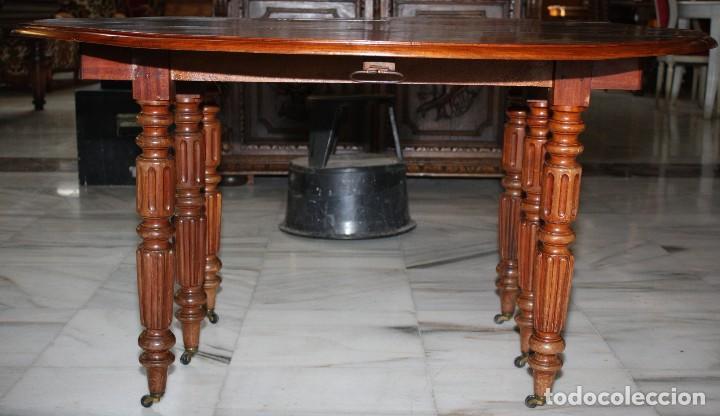 Antigüedades: MESA DE COMEDOR, LUIS FELIPE, EXTENSIBLE. REF:6215 - Foto 5 - 113505623
