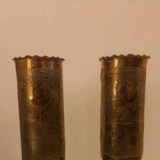Antigüedades: PAREJA DE CANDELEROS OBUS. Lote 113510330