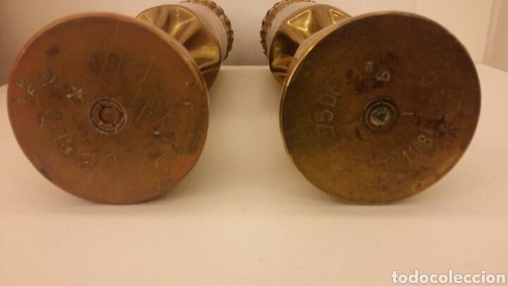 Antigüedades: Pareja de candeleros OBUS - Foto 6 - 113510330