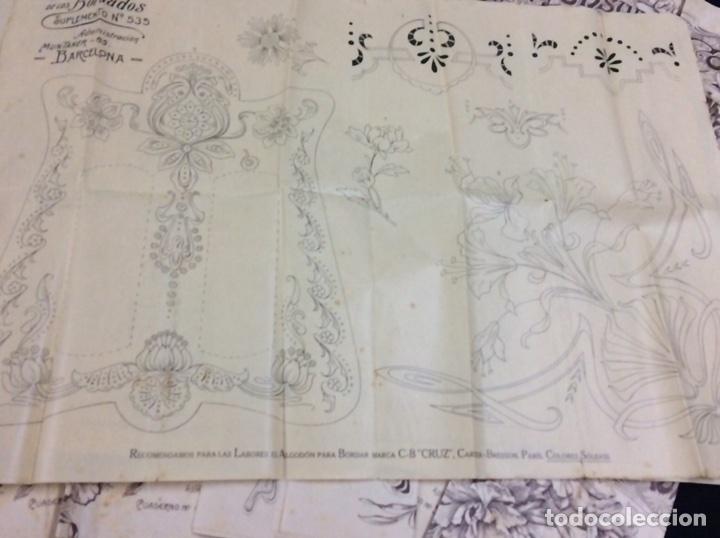 gran lote de cien cuadernos de patrones antiguo - Comprar Bordados ...