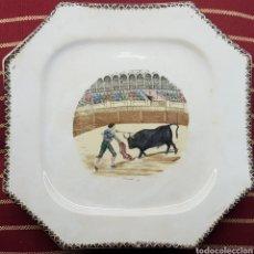 Antigüedades: PICKMAN S.A. CHINA OPACA MEDALLA DE ORO SEVILLA. Lote 113523759