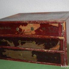 Antigüedades: ANTIGUA CAJONERA DE HILATURAS LABOR S.A. BARCELONA. Lote 113566359