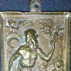 Antigüedades: PLACA DEVOCIONAL SAN JERONIMO. Lote 113614195