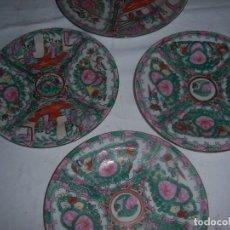 Antigüedades: LOTE DE 4 PLATOS CHINOS. Lote 113635951