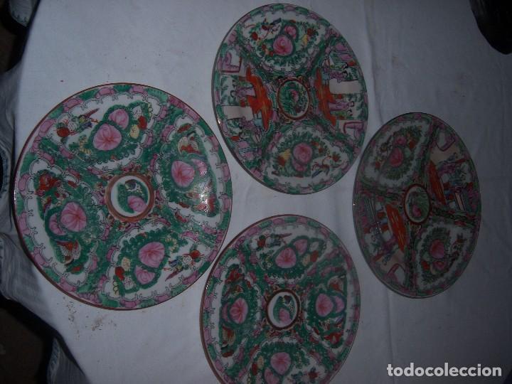 Antigüedades: lote de 4 platos chinos - Foto 2 - 113635951
