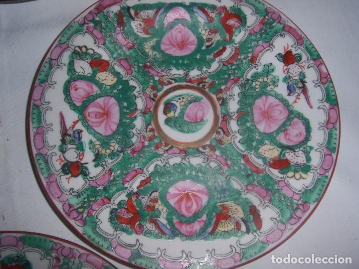 Antigüedades: lote de 4 platos chinos - Foto 3 - 113635951
