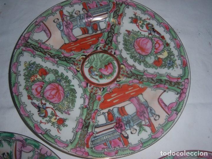 Antigüedades: lote de 4 platos chinos - Foto 4 - 113635951