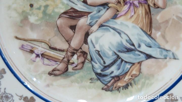 Antigüedades: ANTIGUO PLATO CALCOGRAFIADO. CUPIDO Y PAREJA. FINALES SIGLO XIX - Foto 3 - 113642931