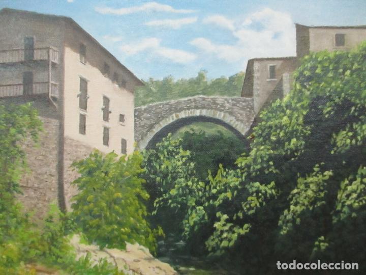 Antigüedades: Pintura al Óleo sobre Tela - Paisaje - Firma P. Campeny - con Marco - Foto 3 - 113645847