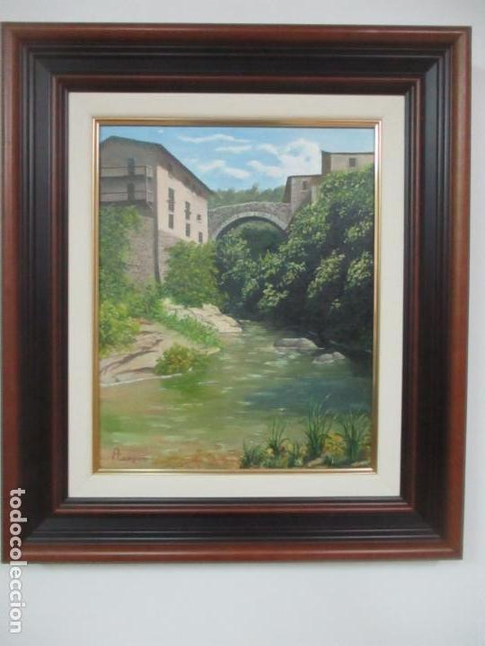 Antigüedades: Pintura al Óleo sobre Tela - Paisaje - Firma P. Campeny - con Marco - Foto 7 - 113645847