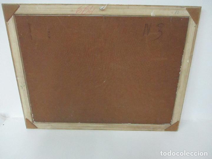 Antigüedades: Pintura al Óleo sobre Tablex - Paisaje - Firma M. Garre - con Marco - Foto 4 - 113646087