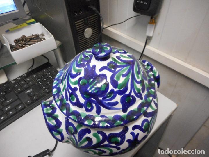 Antigüedades: orza tinaja con tapa fajalauza mide alto total 27 cm perfecto estado - Foto 2 - 113659751