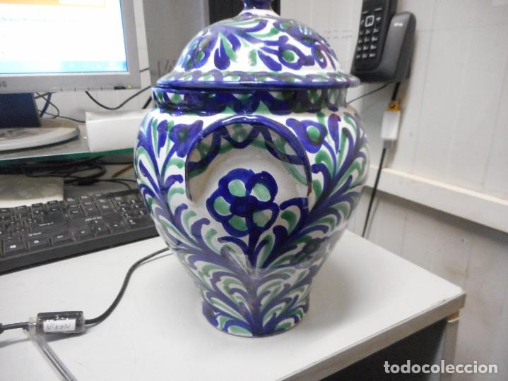 Antigüedades: orza tinaja con tapa fajalauza mide alto total 27 cm perfecto estado - Foto 3 - 113659751