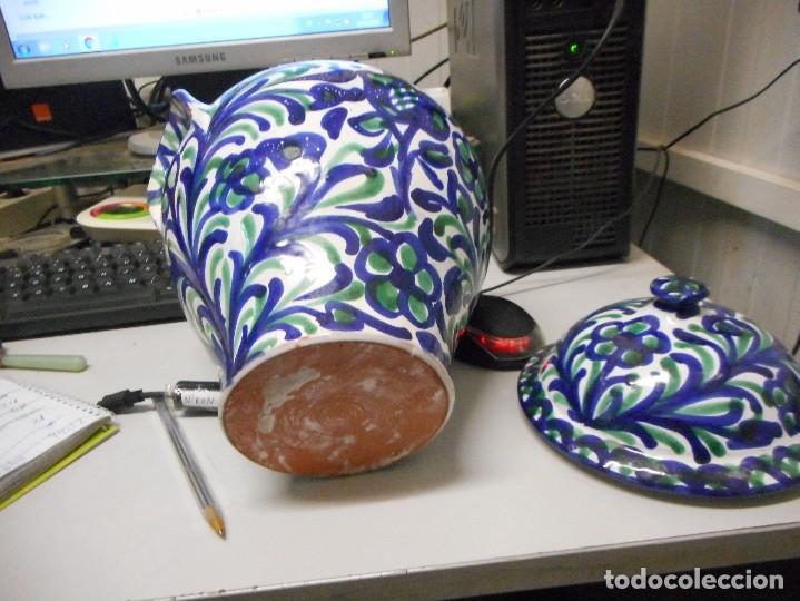 Antigüedades: orza tinaja con tapa fajalauza mide alto total 27 cm perfecto estado - Foto 5 - 113659751