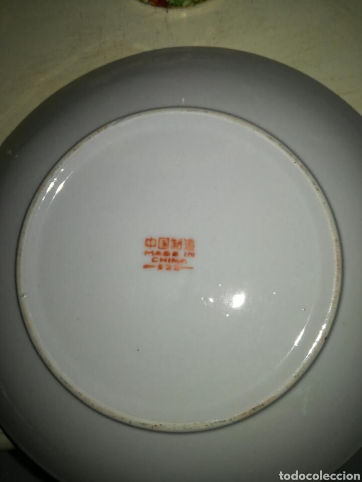 Antigüedades: Juego de porcelana china decoración Pegonias y Granas - Foto 5 - 113663755