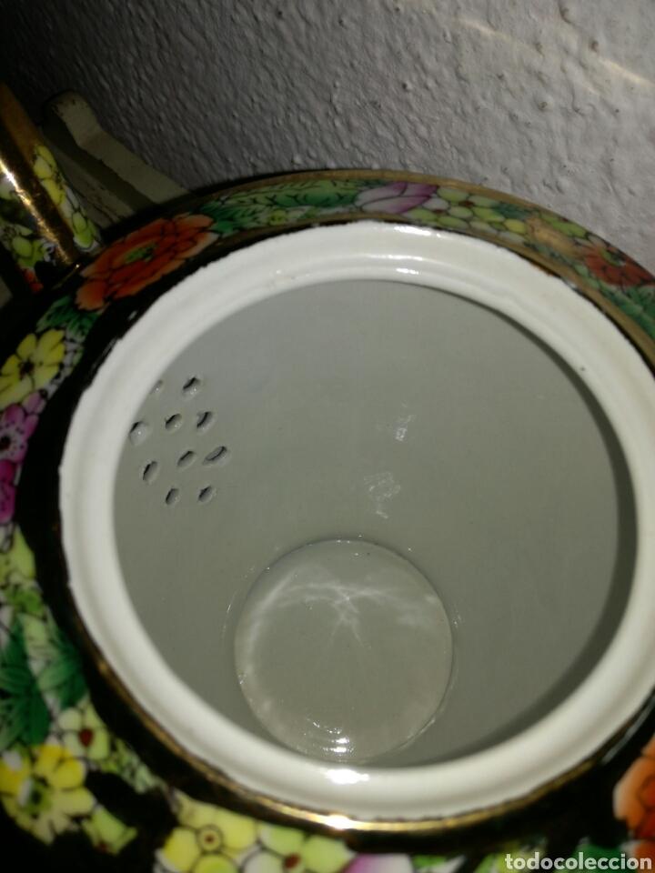 Antigüedades: Juego de porcelana china decoración Pegonias y Granas - Foto 8 - 113663755