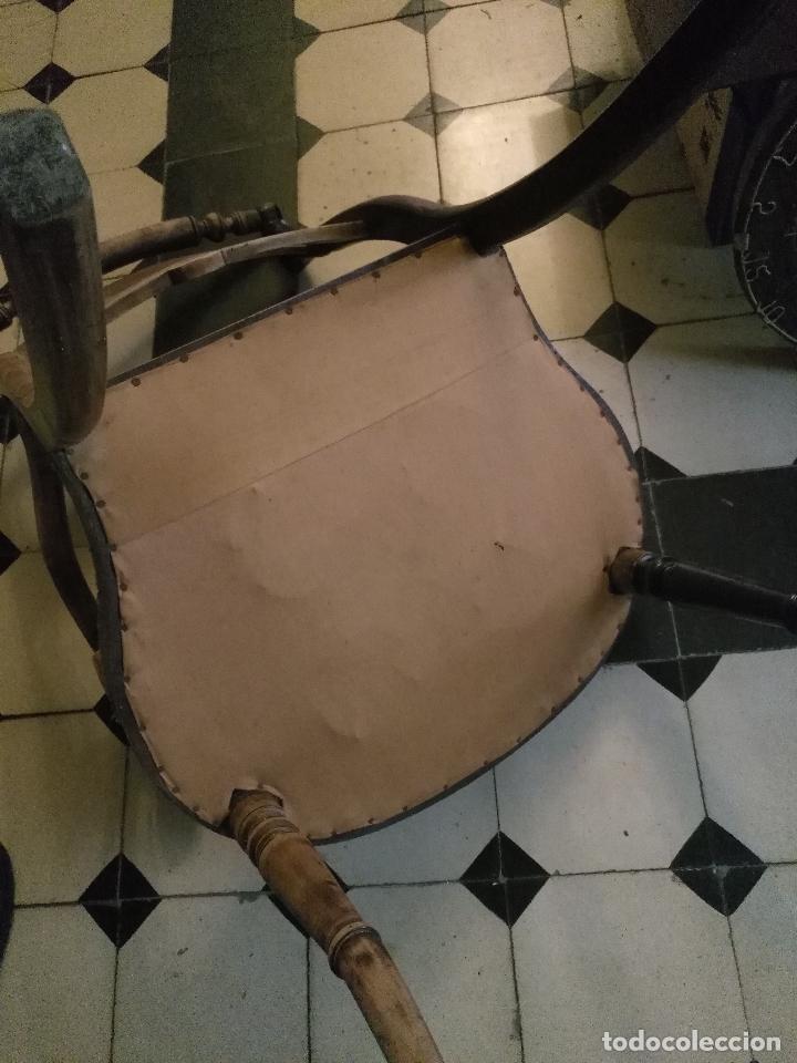 Antigüedades: antigua silla torneada madera y tapizada tela petit point o tapiz. a terminar de restaurar - Foto 13 - 113672907