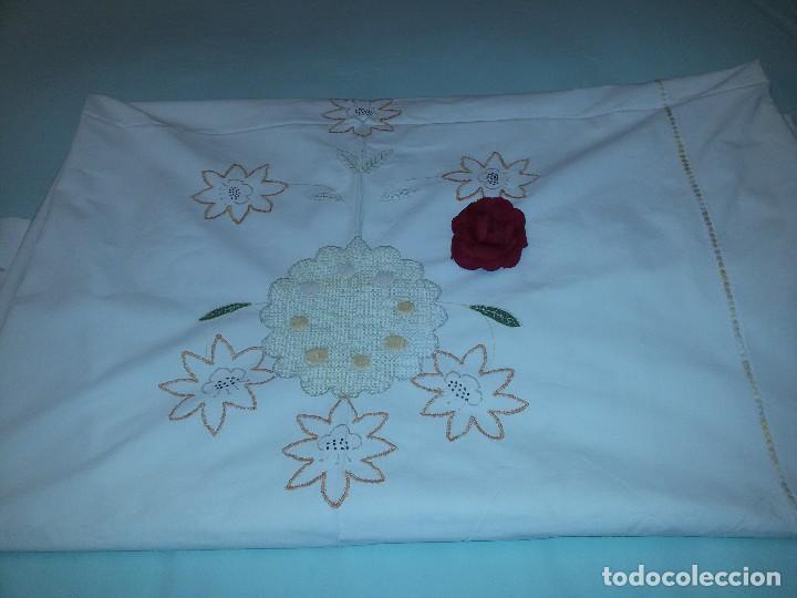 ANTIGUO MANTEL DE ALTAR-ALGODÓN (Antigüedades - Religiosas - Ornamentos Antiguos)
