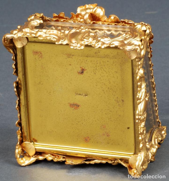 Antigüedades: Joyero estilo Art Nouveau sello Depose París en latón dorado y cristal hacia 1920 - Foto 7 - 113677599