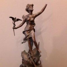 Antigüedades: FIGURA ALEGORIA AL COMERCIO Y A LA NAVEGACION. Lote 113697599
