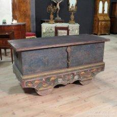Antigüedades: BAÚL MATRIMONIAL INDIO EN MADERA DEL SIGLO XX. Lote 113705851