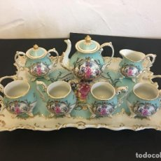 Antigüedades: JUEGO DE CAFÉ EN PORCELANA. Lote 113709967
