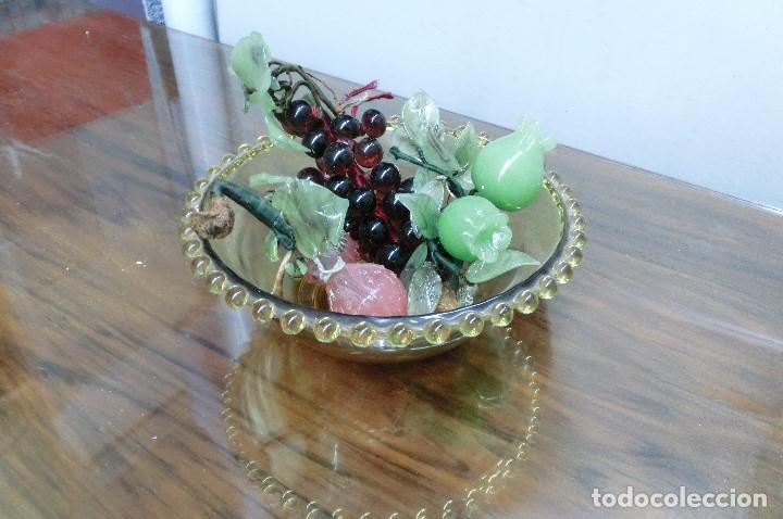 frutero de cristal con frutas de cristal y marm Comprar en