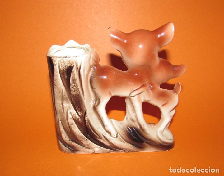 Antigüedades: BAMBIS FLORERO VIOLETERO CON TERMÓMETRO - VINTAGE - MUY BONITO - Foto 2 - 113712771