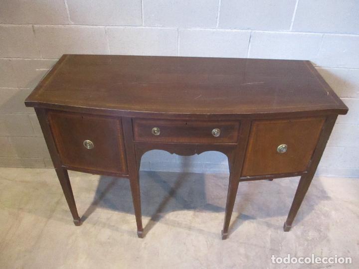 Antigüedades: Antiguo Mueble Aparador - Mesa, Cómoda - Bufet Victoriano, Inglés - Madera Caoba - S. XIX - Foto 4 - 113738307