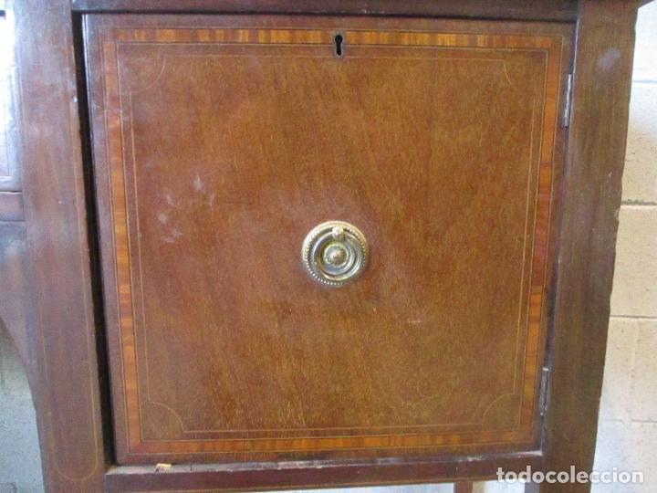 Antigüedades: Antiguo Mueble Aparador - Mesa, Cómoda - Bufet Victoriano, Inglés - Madera Caoba - S. XIX - Foto 10 - 113738307