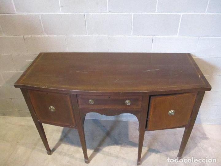 Antigüedades: Antiguo Mueble Aparador - Mesa, Cómoda - Bufet Victoriano, Inglés - Madera Caoba - S. XIX - Foto 31 - 113738307