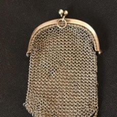 Antigüedades: MONEDERO DE PLATA DE LEY, FINALES DEL S.XIX.. Lote 113758759