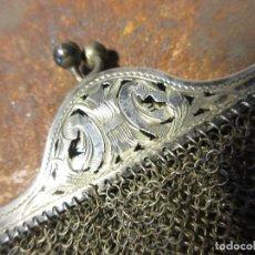 Antigüedades: ANTIGUO BOLSO DE MALLA DE PLATA. Lote 113771019