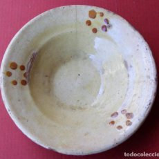 Antigüedades: PLATO ANTIGUO, CERAMICA LA BISBAL. Lote 113773031