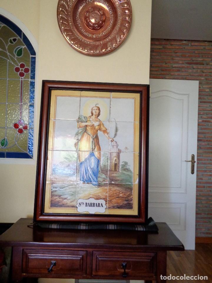 Antigüedades: PANEL SANTA BARBARA.MANISES.SIGLO XIX - Foto 2 - 113815499