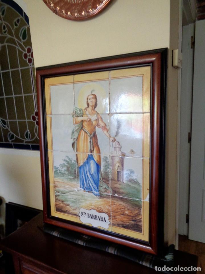 Antigüedades: PANEL SANTA BARBARA.MANISES.SIGLO XIX - Foto 3 - 113815499