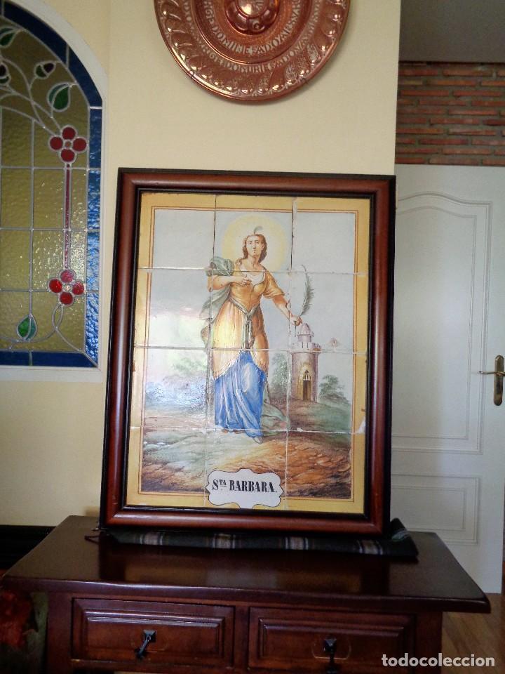 Antigüedades: PANEL SANTA BARBARA.MANISES.SIGLO XIX - Foto 5 - 113815499